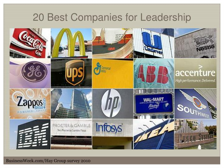 20 Best Companies for Leadership