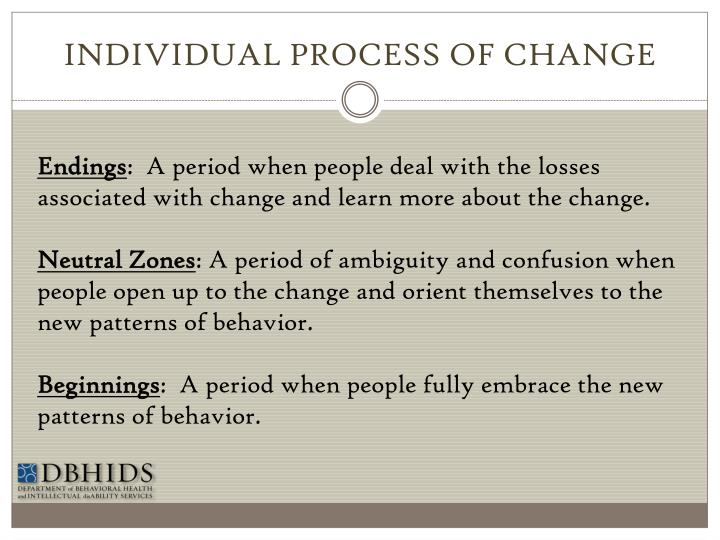 INDIVIDUAL PROCESS OF CHANGE