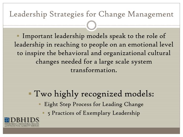Leadership Strategies for Change Management