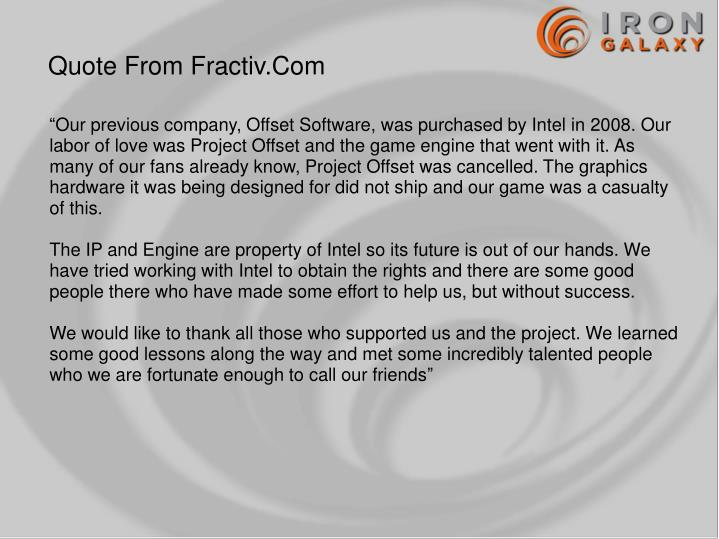 Quote From Fractiv.Com