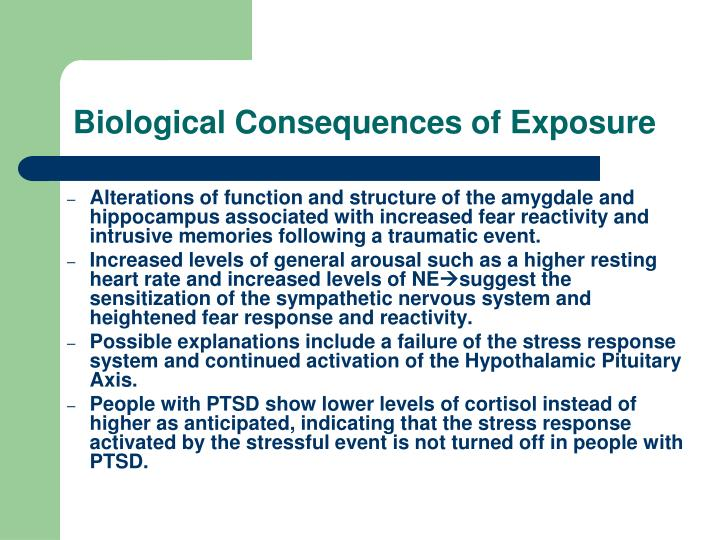 Biological Consequences of Exposure
