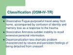 classification dsm iv tr