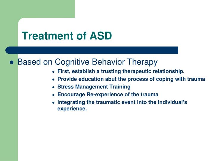 Treatment of ASD