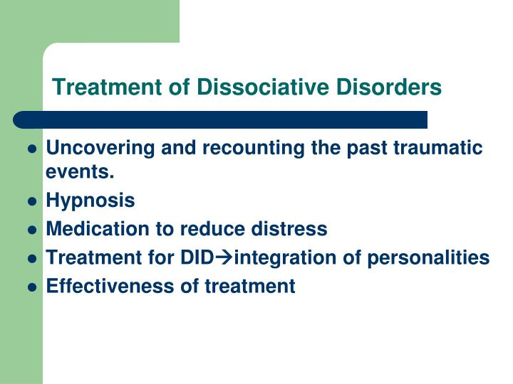 Treatment of Dissociative Disorders