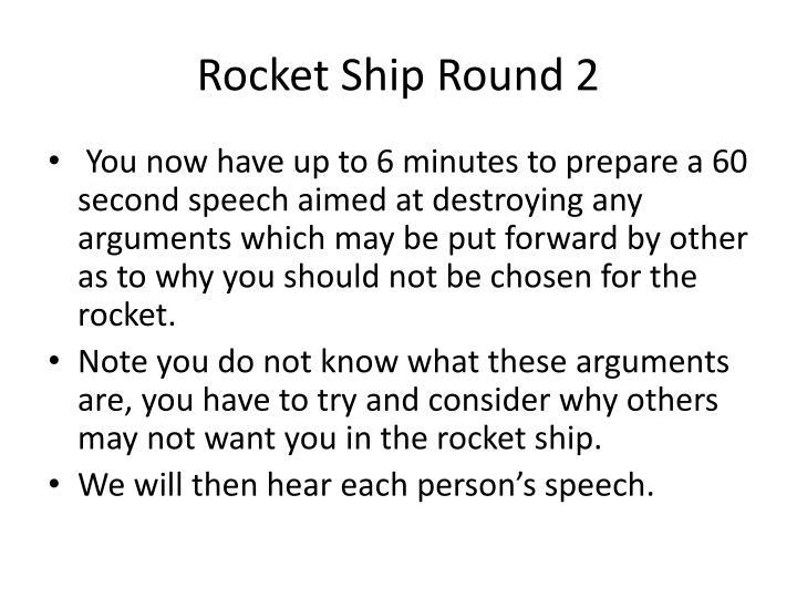 Rocket Ship Round 2
