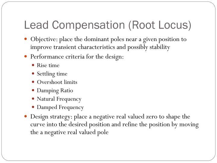 Lead Compensation (Root Locus)