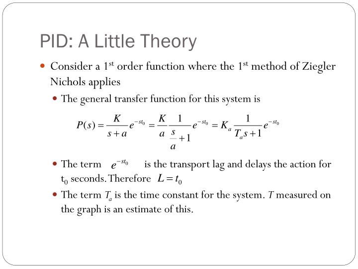 Pid a little theory