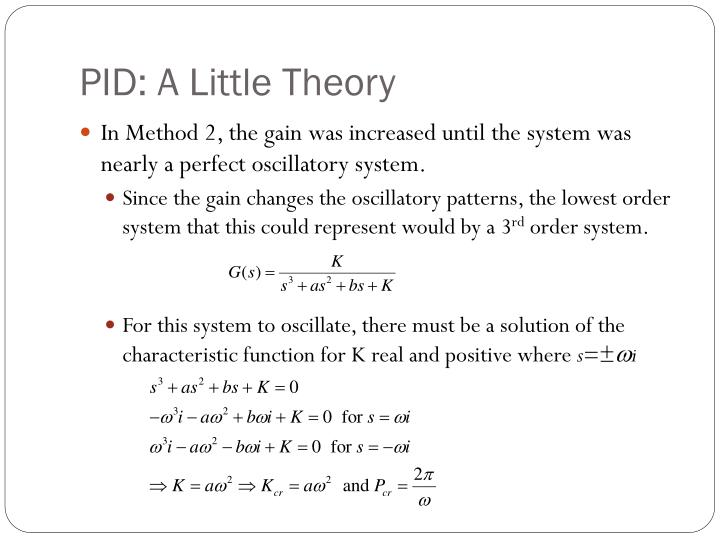 PID: A Little Theory
