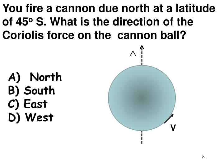 You fire a cannon due north at