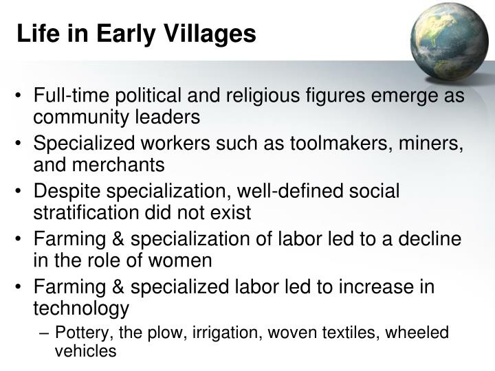 Life in Early Villages