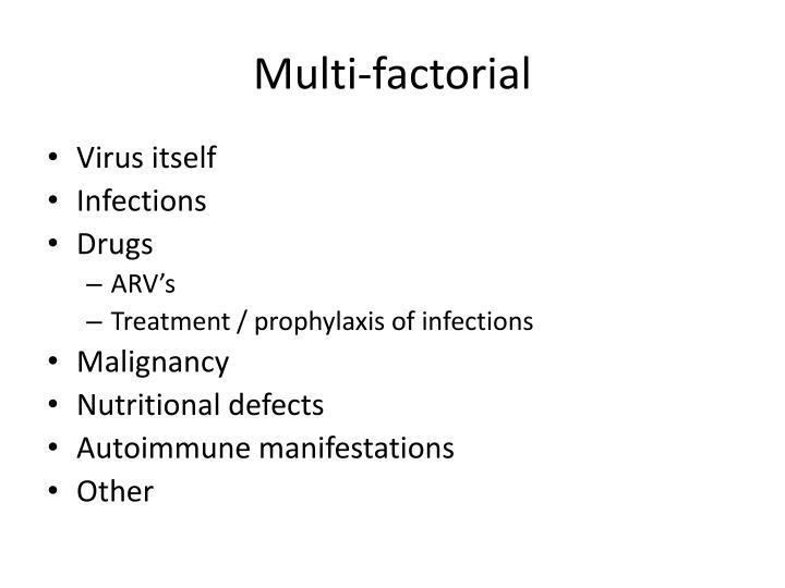 Multi-factorial