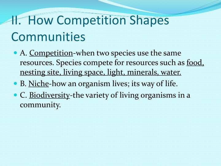 II.  How Competition Shapes Communities