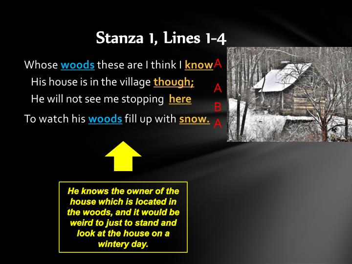 Stanza 1 lines 1 4