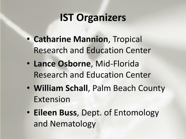 IST Organizers