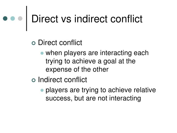 Direct vs indirect conflict