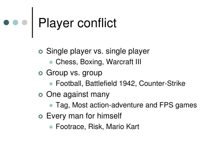 Player conflict