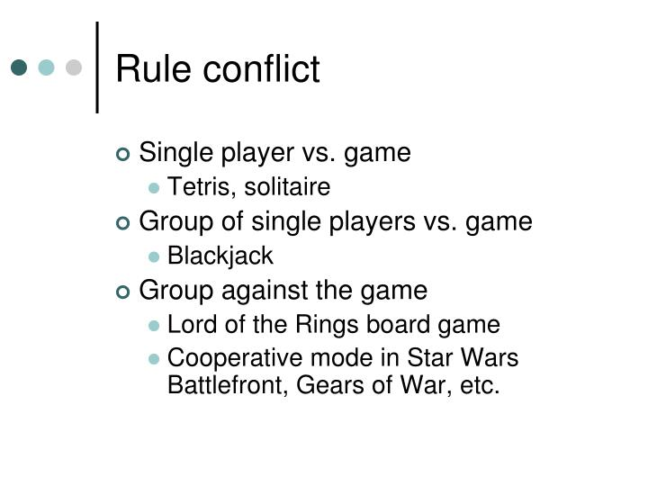 Rule conflict