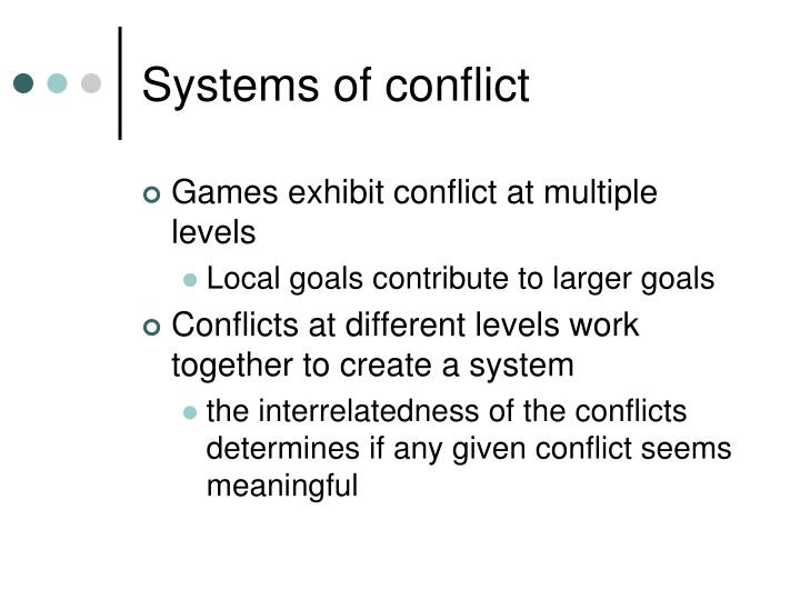 Systems of conflict