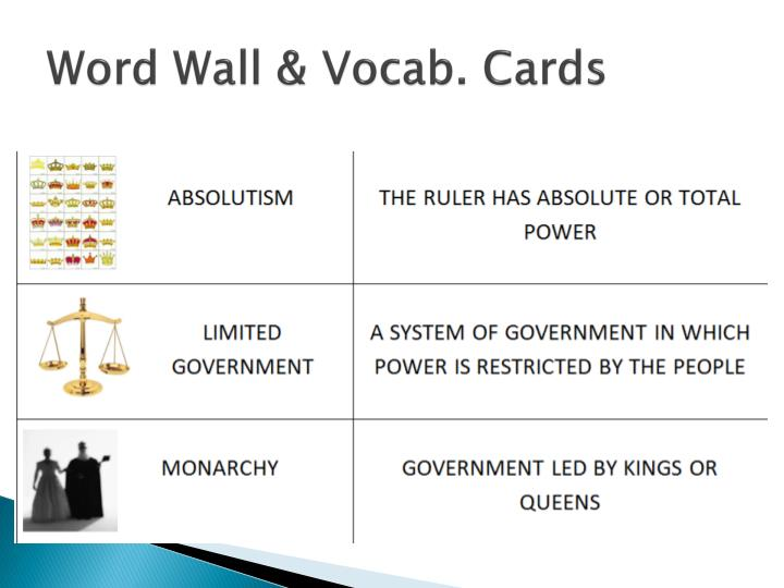 Word Wall & Vocab. Cards