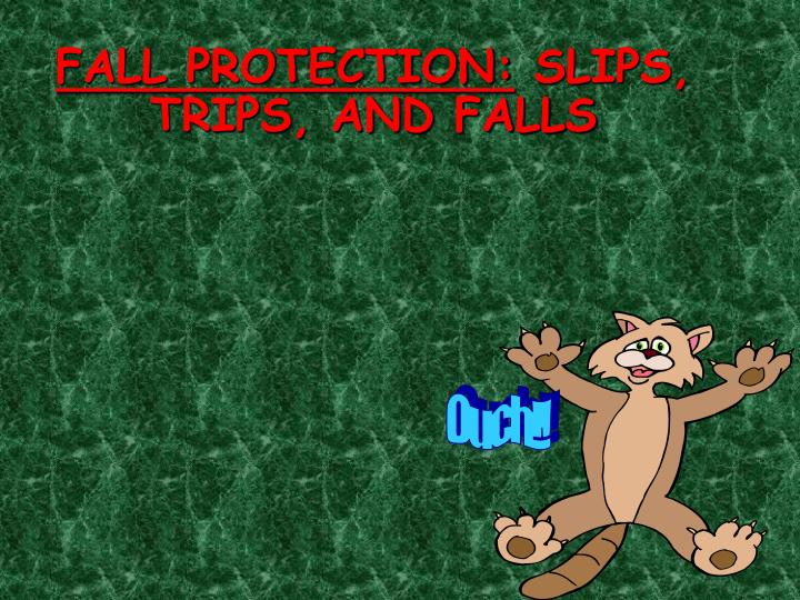 Fall protection slips trips and falls