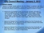 city council meeting january 3 20122