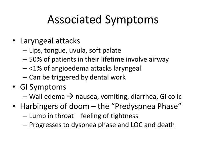 Associated Symptoms