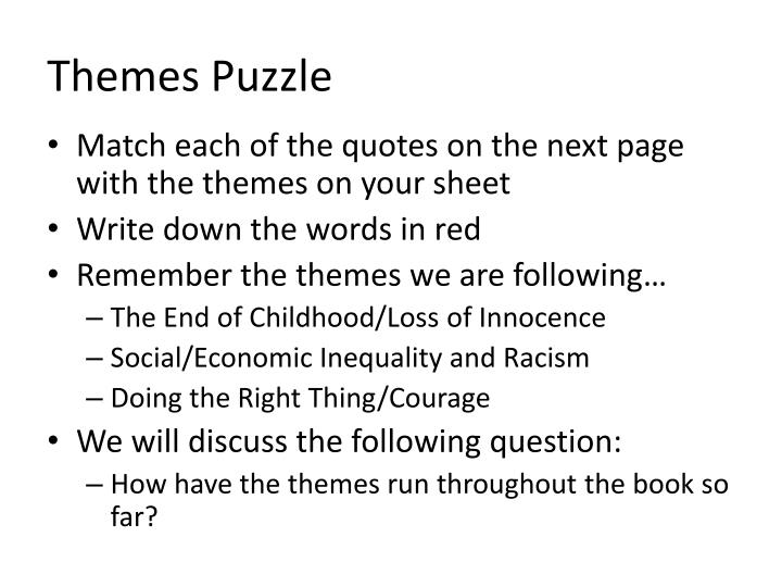 Themes Puzzle
