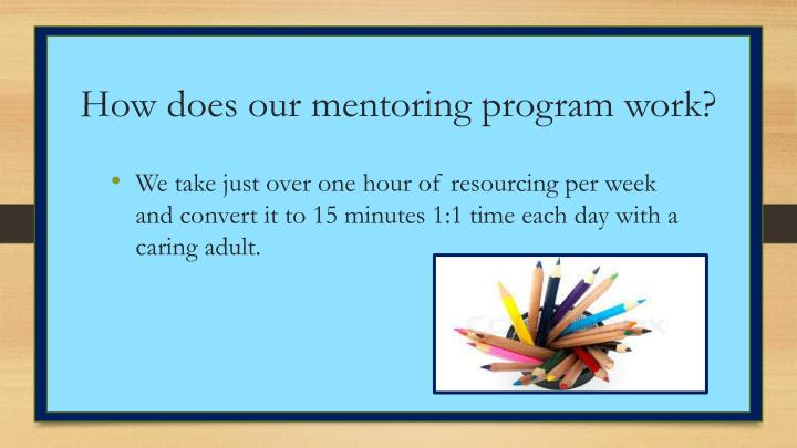 How does our mentoring program work