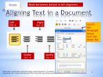 aligning text in a document