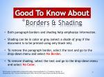 borders shading