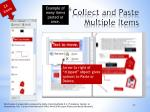 collect and paste multiple items