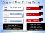 drag and drop editing demo