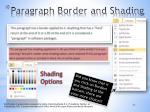 paragraph border and shading