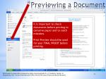 previewing a document