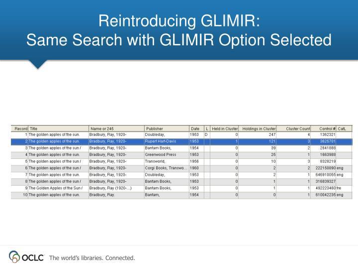 Reintroducing GLIMIR: