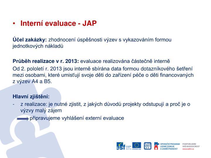 Interní evaluace - JAP