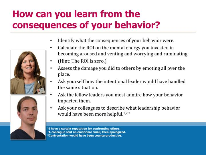 How can you learn from the consequences of your behavior?