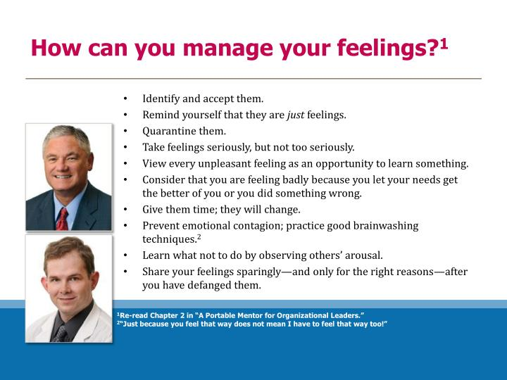 How can you manage your feelings?