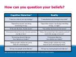 how can you question your beliefs
