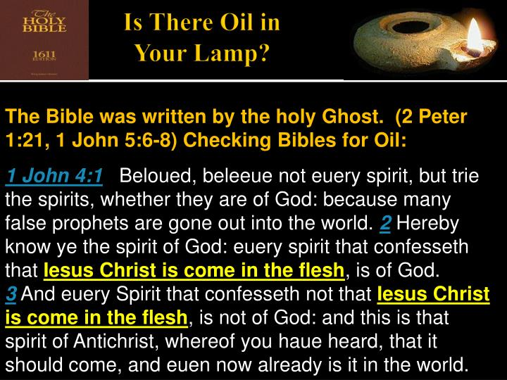 Is There Oil in Your Lamp?