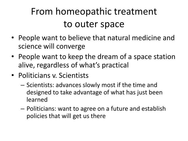 From homeopathic treatment