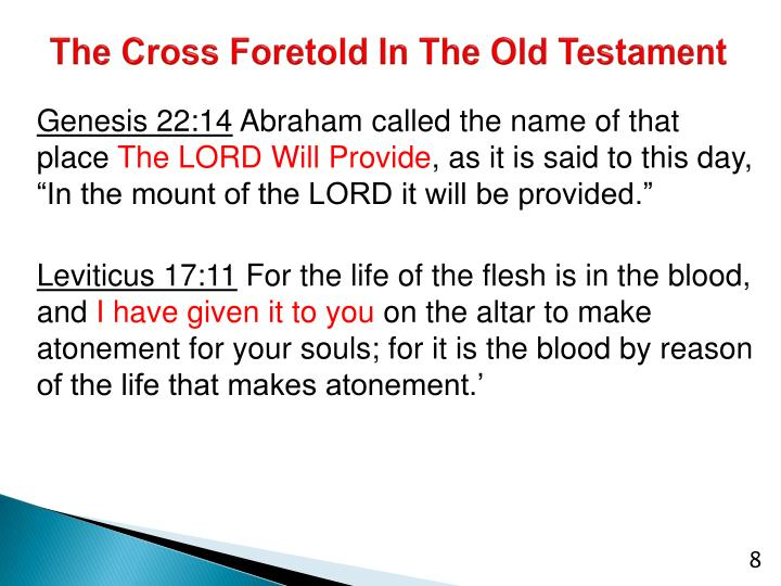 The Cross Foretold In The Old Testament