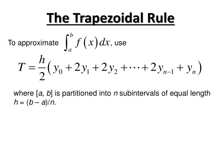 The Trapezoidal Rule