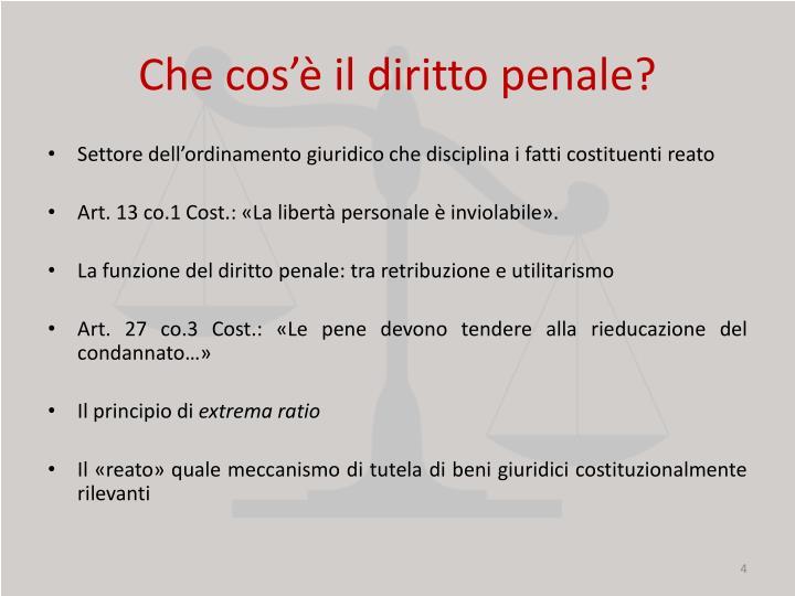 Che cos'è il diritto penale?