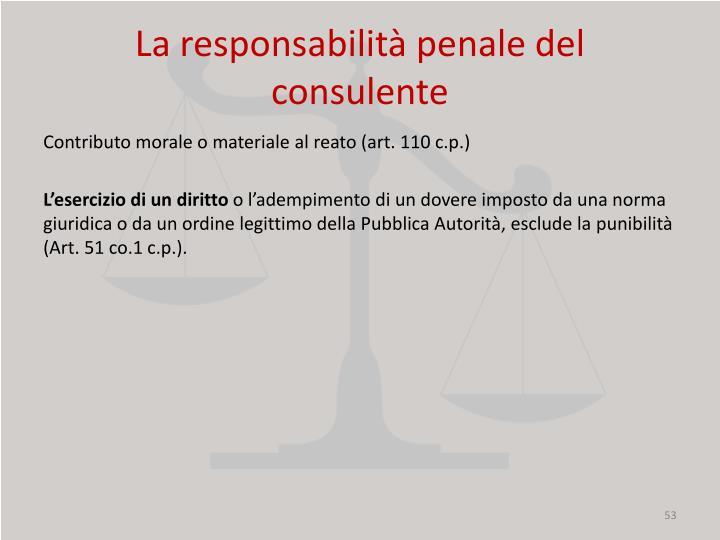 La responsabilità penale del consulente