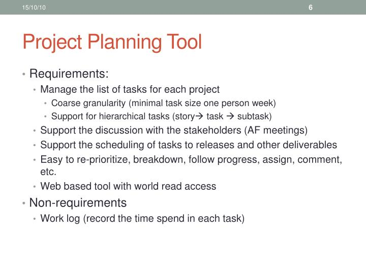 Project Planning Tool
