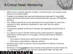 a critical need monitoring