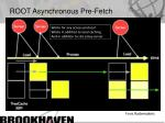 root asynchronous pre fetch