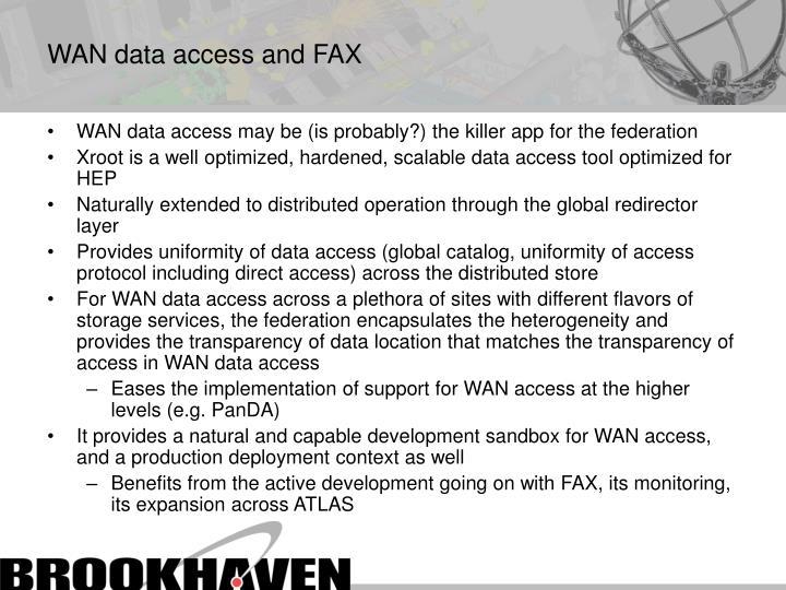 WAN data access and FAX