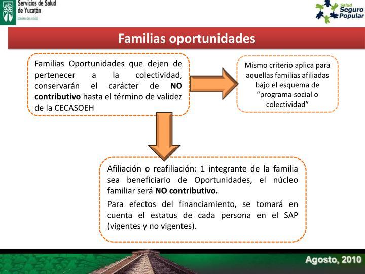 Familias oportunidades